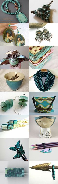 Treasure in turquoise by Agnieszka on Etsy--Pinned with TreasuryPin.com