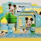 Mickey Mouse 1st Birthday Party Perfect Package for 8