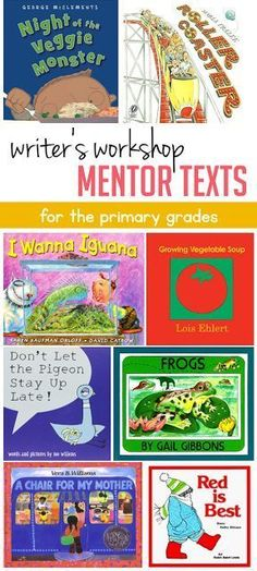 My favorite mentor texts for writer's workshop in the primary grades! Head on over to the blog post to read how this teacher uses them.