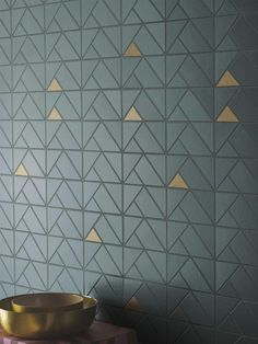 """Three-dimensional effects, saturated colours and floral and geometric patterns: """"Eclettica"""" is a new versatile and contemporary ceramic wall covering. Bathroom Wall Coverings, Bathroom Wall Tiles, Wall Tiles Design, Keramik Design, Ceramic Wall Tiles, 3d Wall Tiles, Geometric Tiles, Style Tile, Wall Treatments"""