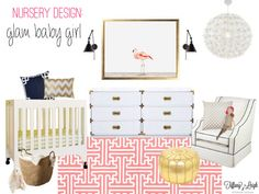 Beautiful Floridian mixy match nursery by @Tiffany Leigh featuring @Mike Playroom's #Babyletto crib.