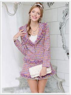 Morpheus Boutique  - Pink Knit Plaid Lady Long Sleeve Hem Coat, CA$143.57 (http://www.morpheusboutique.com/pink-knit-plaid-lady-long-sleeve-hem-coat/)
