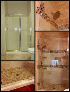 Travertine Shower remodel