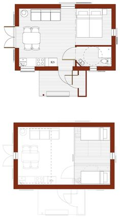 This particular photo is absolutely an amazing style procedure. Prefab Cottages, Backyard Guest Houses, Shed To Tiny House, Small House Floor Plans, Cottage Porch, Weekend House, Beach Cottage Style, Apartment Plans, Small House Design