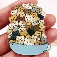 Lovely Trendy Cat Teddy Animal Badge Acrylic Brooch For Clothes Badge Decorative Rozet Collar Scarf Lapel Pin Brooch Badge Icon, Nurse Badge, Harajuku, Cat Pin, Pin And Patches, Metal Pins, Bridal Gifts, Pin Collection, Cute Drawings
