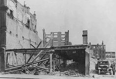 What's left of Woolworths store following bomb damage at the Elephant and Castle in 1941