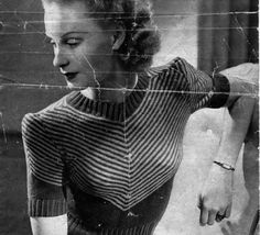 The Vintage Pattern Files: Free 1940's Knitting Pattern - Women's Chevron Jumper