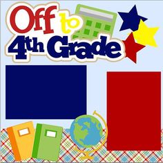 NEW First Day of Fourth (4th) Grade 2-page 12 X 12 Premade layout by MemoriesByDezyn, $12.95