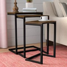 online shopping for Vikki 3 Piece Nesting Tables Laurel Foundry Modern Farmhouse from top store. See new offer for Vikki 3 Piece Nesting Tables Laurel Foundry Modern Farmhouse Home Design, Design Salon, Interior Design, Furniture Decor, Furniture Design, Large Furniture, Furniture Sale, Furniture Collection, Outdoor Furniture
