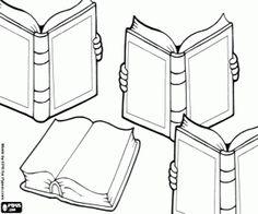 kolorowanka 23 kwietnia, dzień książki Felt Books, Mini Books, Accordion Book, Book Tattoo, Youth Ministry, Colorful Drawings, Kindergarten Math, Line Drawing, Lettering