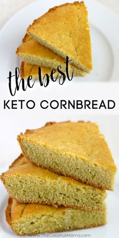 Keto Cornbread Recipe (Only 1 Net Carb Per Serving) This lovely keto cornbread recipe resembles the flavor and texture of traditional cornbread, but without the corn (and carbs)! You'll be amazed at how good it tastes! Keto Corn Bread, Best Keto Bread, Low Carb Bread, Low Carb Keto, Healthy Low Carb Recipes, Ketogenic Recipes, Diet Recipes, Dessert Recipes, Shrimp Recipes