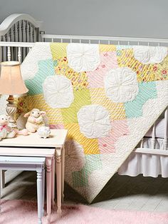 Free Home Decor Quilting Patterns - Use a simple Bow Tie block on point with pretty pastels to make this quilted treasure for Baby. This e-pattern was originally published in the December 2012 issue of Quilter's World. Size: 38 x Block Size: x Level: Easy Free Baby Quilt Patterns, Beginner Quilt Patterns, Quilt Block Patterns, Pattern Blocks, Quilt Blocks, Quilting Ideas, Book Quilt, Longarm Quilting, Sewing Accessories
