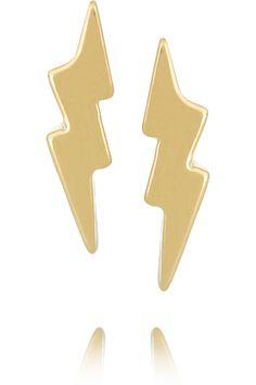 Marc by Marc Jacobs|Lightning Bolt gold-tone earrings|NET-A-PORTER.COM