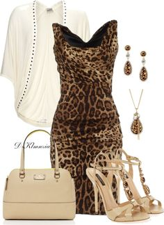 """leopardo"" by clemencia-gonza on Polyvore"