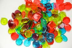Minecraft Party: Candy Jewels made with Jolly Rancher candies and a mold