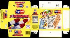 Good Humor - Popsicle - Firecracker ice pops box - 1994