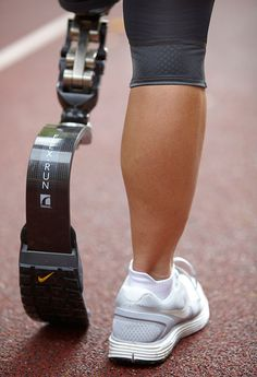 Nike designed this AWESOME prosthetic running sole for competitive amputee athletes.  Functional stuff turned cool.