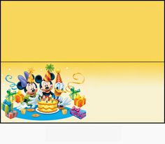 Mickey and Friends: Free Printable Candy Bag Label. | Oh My Fiesta ...