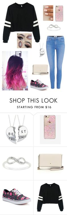 """""""Outfit Sixty Three"""" by faithcameron1 ❤ liked on Polyvore featuring Skinnydip, City x City, Kate Spade, Vans and Paige Denim"""