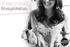 10 beauty cheats every girl should know
