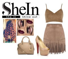 """""""She in"""" by anasofiamoreira82 ❤ liked on Polyvore featuring River Island, Christian Louboutin and Michael Kors"""