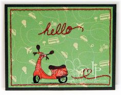 Hello by @mshellp  for @therubbercafe #creativecafeKOTM #card