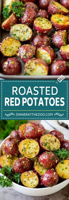 Potato Sides, Potato Side Dishes, Best Side Dishes, Vegetable Side Dishes, Vegetable Recipes, Red Potatoes Oven, Roasted Baby Red Potatoes, Recipe For Baby Red Potatoes, Best Potatoes For Roasting