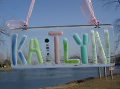 Personalized Fused Glass Name Plate by Amandas Fused Art - contemporary - kids decor - Etsy