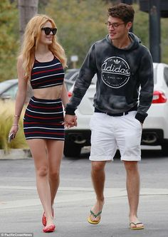 Bella Thorne and boyfriend Gregg Sulkin walk hand-in-hand in Malibu #dailymail