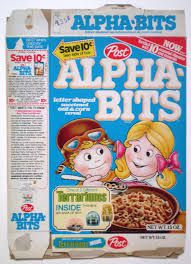 alphabet cereal from the 1980