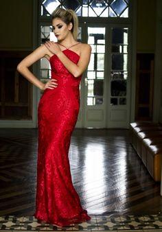 Vestido de festa  vermelho para madrinha ou formanda
