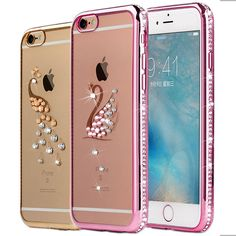 Rhinestone Silicone Case For iPhone 6 6S / 6S Plus Glitter Cute Luxury 3D Diamond Cover Gold Pink i Phone Coque Fundas | iPhone Covers Online