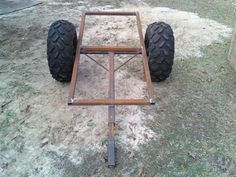 ATV Trailer - TexasBowhunter.com Community Discussion Forums Quad Trailer, Trailer Diy, Small Trailer, Trailer Plans, Trailer Build, Welding Trailer, Atv Utility Trailer, Atv Implements, Atv Trailers