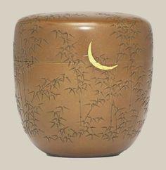 A Copper Natsume [Tea Caddy] SignedGoto Hokkyo Ichijo saku, Edo Period (19th century), Japan Incised inkatakiri-boriand inlaid in gold wi...