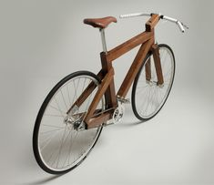 Wooden bike.