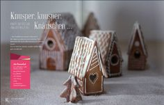 Mini Gingerbread houses http://issuu.com/welovehandmademag/docs/wlhmag3_final