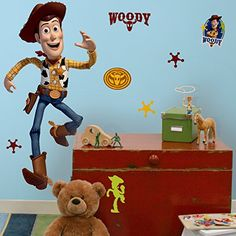 online shopping for RoomMates Toy Story Woody Giant Peel Stick Wall Decal - from top store. See new offer for RoomMates Toy Story Woody Giant Peel Stick Wall Decal - Disney Wall Decals, Kids Wall Decals, Kids Stickers, Wall Stickers, Disney Pixar, Disney Toys, Woody, Mickey Mouse Classic Cartoons, Toy Story Bedroom