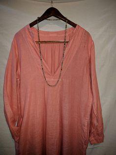 8a89f24ec80f SOLD OUT C P Shades Linen Shirt Dress sz Small   Medium Coral Pink 100%  Linen