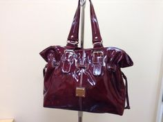 Dooney and Bourke Patent Leather Bordeaux NWT Chiara  Handbag-Purse- Tote #DooneyBourke #TotesShoppers