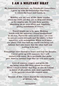 Military Brat | am a Military Brat.