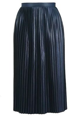 Womens navy jersey pleat midi skirt blue blue from Topshop - £32 at ClothingByColour.com