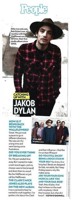 Check out The Wallflowers/Jakob Dylan Q in People Magazine