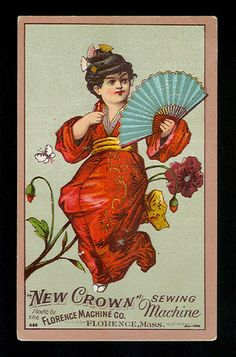 Storrie & Dunlap, Dry Goods, Amsterdam, NY in Collectibles Vintage Advertisements, Vintage Ads, Vintage Images, Vintage Sewing, Vintage Embroidery, Victorian Sewing Machines, Sewing Cards, Fans, Atc Cards
