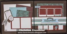 Layout featuring CTMH's Jackson paper pack