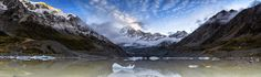 O V E R T O N E - O V E R T O N E  by Timothy Poulton Panorama Photography  Mt Cook New Zealand  We set the alarm for 3am to make the journey through the Hooker Valley to Hooker Lake at the foot of Mt Cook, with no moon and only our headlamps to guide us we set off for the 2 hour walk. With the sound of avalanches and the power of the mighty Hooker River, for a small moment I felt like Sir Edmund Hillary. With first light approaching I claimed my ice formation and sat patiently to the…