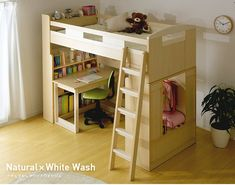 ロフトシステムベッドChambre(シャンブル) Kid Beds, Bunk Beds, Kids Room, Loft, Woodworking, Bedroom, House, Furniture, Home Decor