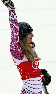 Lindsey Vonn. First American woman to ever win gold in downhill (Winter Olympics 2010)
