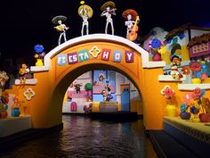 Gran Fiesta Tour Starring The Three Caballeros is an indoor Log flume and dark ride movie housed within the pyramid-shaped Mexico pavilion, in Epcot.