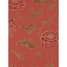 Buy Colefax & Fowler Poppy and Butterfly Wallpaper from our Wallpaper range at John Lewis & Partners. Osborne And Little Wallpaper, Red Wallpaper, Butterfly Wallpaper, Wallpaper Online, Fabric Wallpaper, Colefax And Fowler Wallpaper, Surface Pattern, Accessories Shop, Red Gold