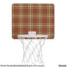 Brown Tartan Mini Basketball Goal Mini Basketball Hoop